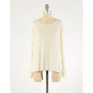 Joie Lightweight Cashmere Metallic Stripe Sweater